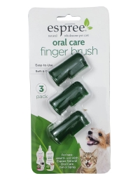 Espree Oral Care Fingerbrush 3-pack
