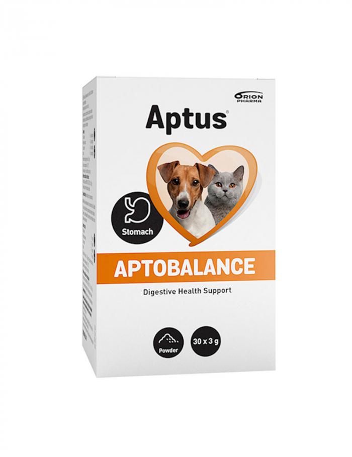 Aptus Aptobalance. Kosttillskott för balansering av mag- och tarmaktivitet hos hund och katt.