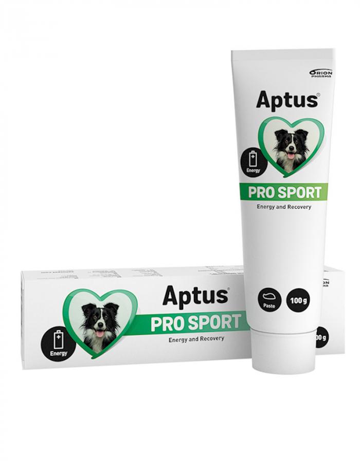 En tub Pro Sport Dog från Aptus. Kompletteringsfoder till hund.