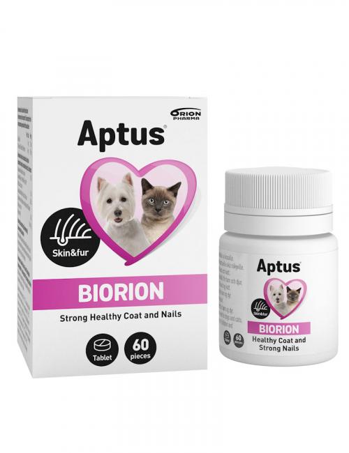 Aptus Biorion. Kosttillskott för hud, päls och klor hos hund och katt.
