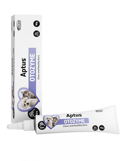 Aptus Otozyme för öronrengöring på katt och hund.