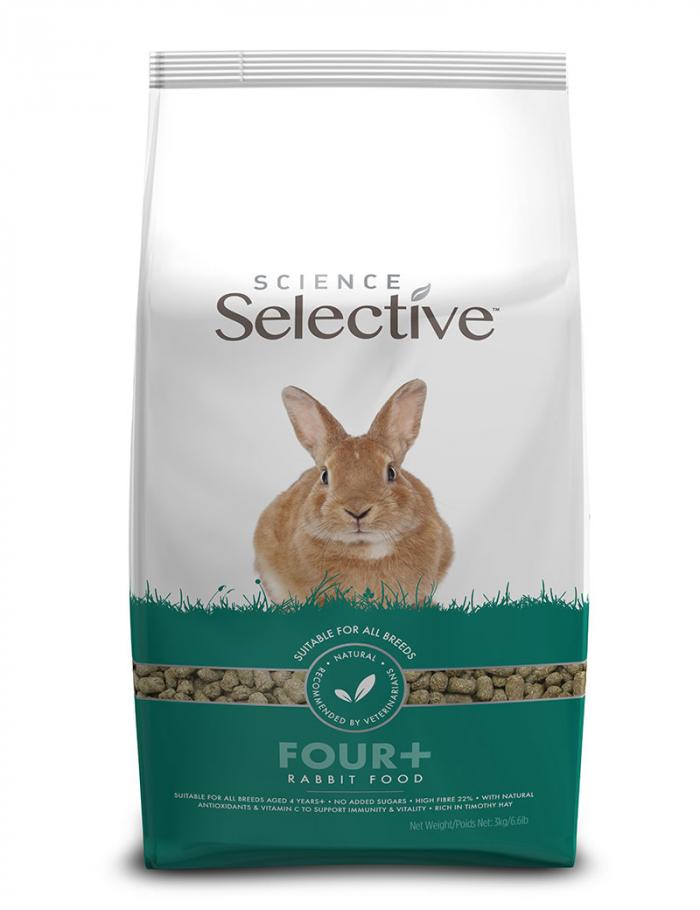 Supreme Selective Four+ 3kg för äldre kaniner