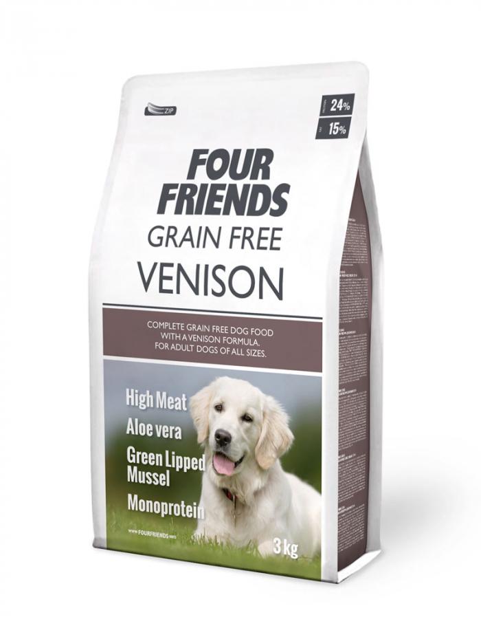 FourFriends hundmat Grain Free Venison