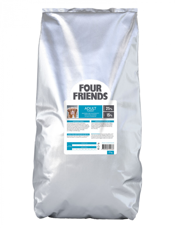 FourFriends hundmat Adult Turkey 17 kg