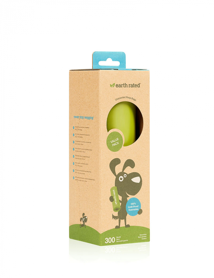 Earth Rated Single 300 påsar unscented