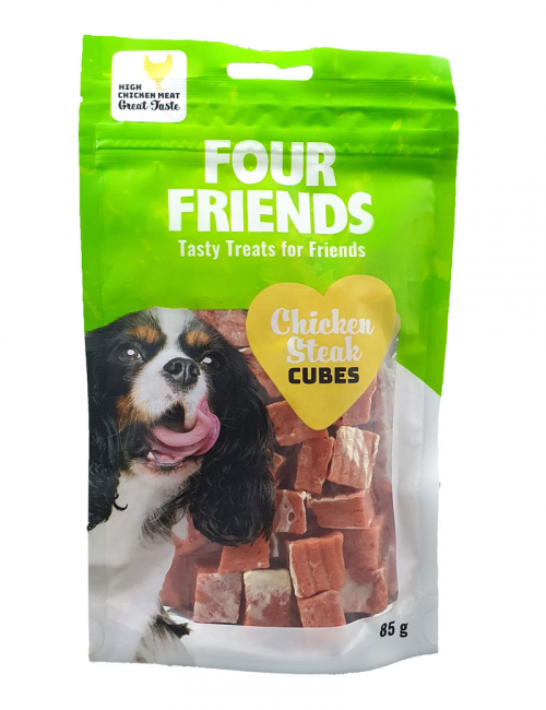 FourFriends Chicken Steak Cubes 85g