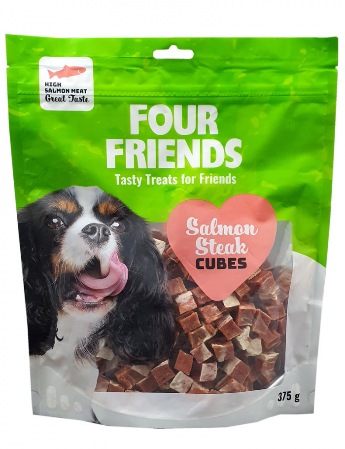 FourFriends Salmon Steak Cubes 375g